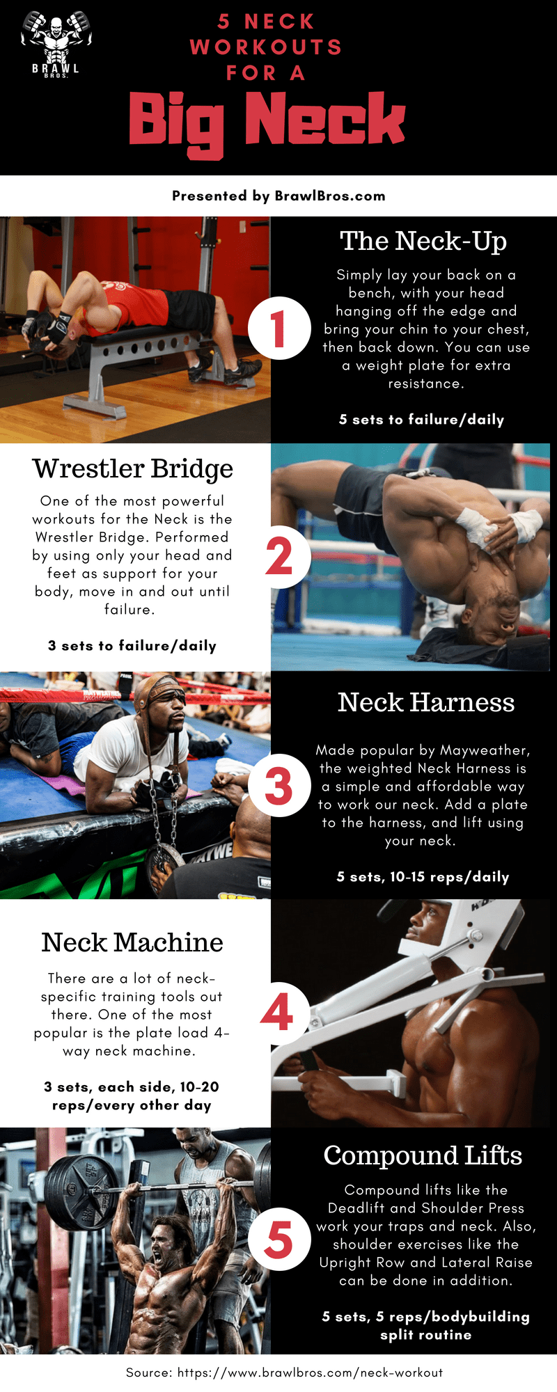 The Neck Workout, How to Get a Big and Strong Neck - Brawl Bros
